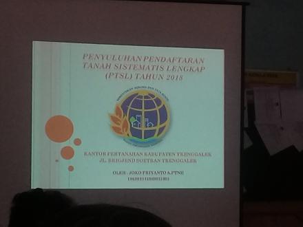 PENYULUHAN PROGRAM PTSL TH 2018